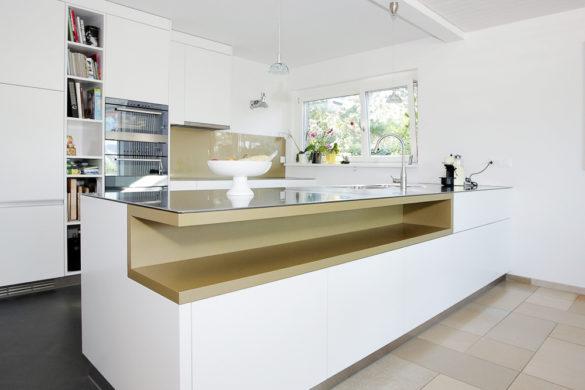EMME Küche weiss und gold