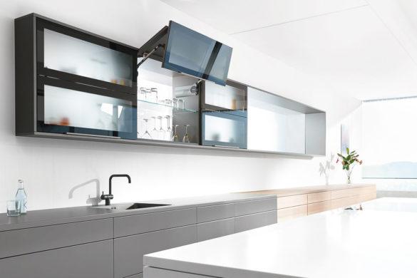 EMME Küche Grau, Schwarz Und Holz