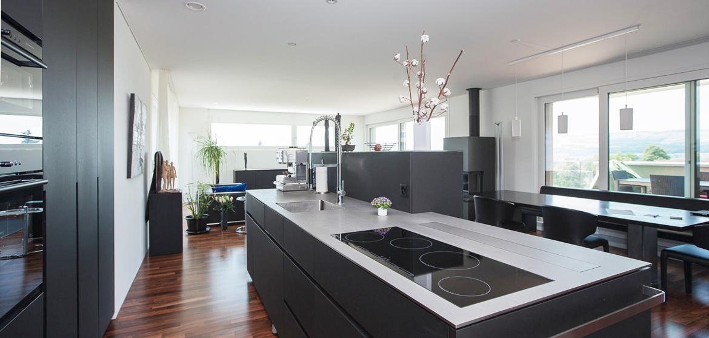 Küche schwarz, matt - EMME - Die Schweizer Küche