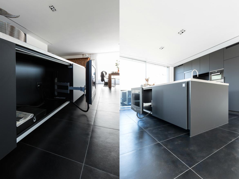 Fernseher in Möbel integriert EMME