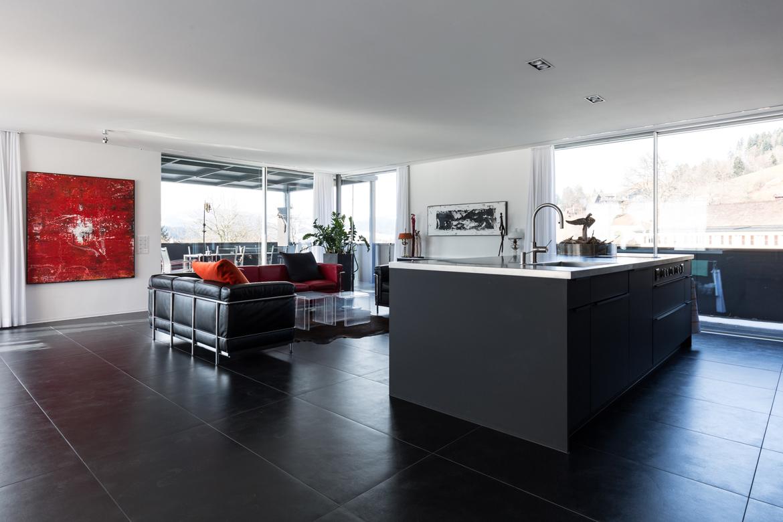 traumk che schwarz matt emme die schweizer k che. Black Bedroom Furniture Sets. Home Design Ideas