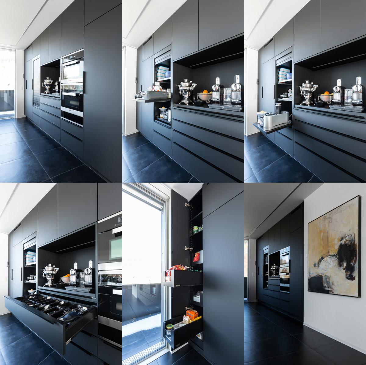 EMME Küche schwarz matt
