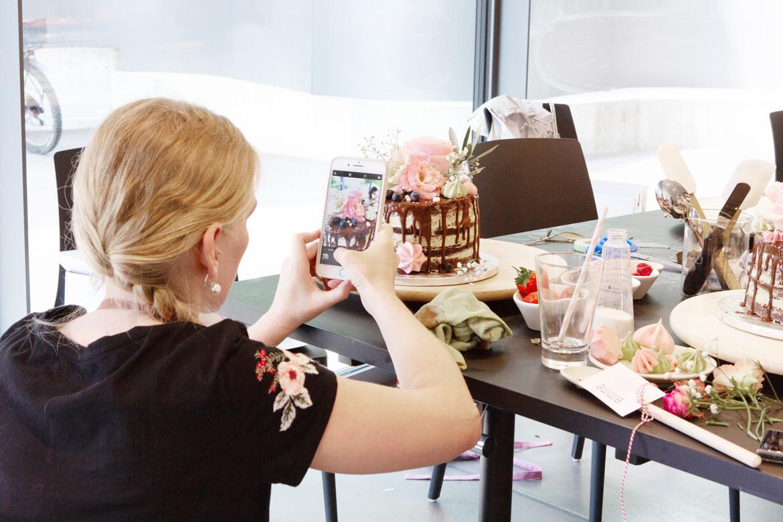 Wunderschöne Torte vom Drip-Cake-Kurs mit Jenny's Cakes