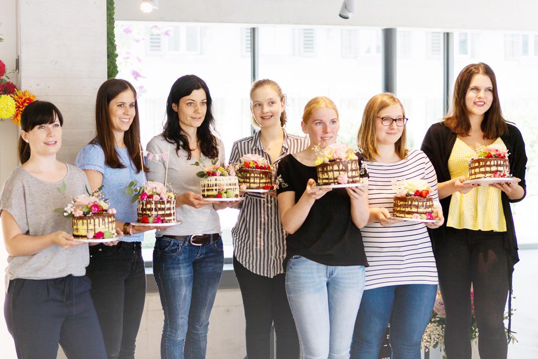 Torten vom Naked-Cake Drip-Cake Kurs mit Jenny's Cakes