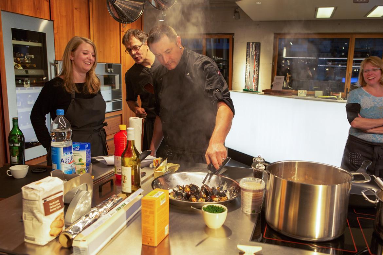 Miesmuscheln kochen