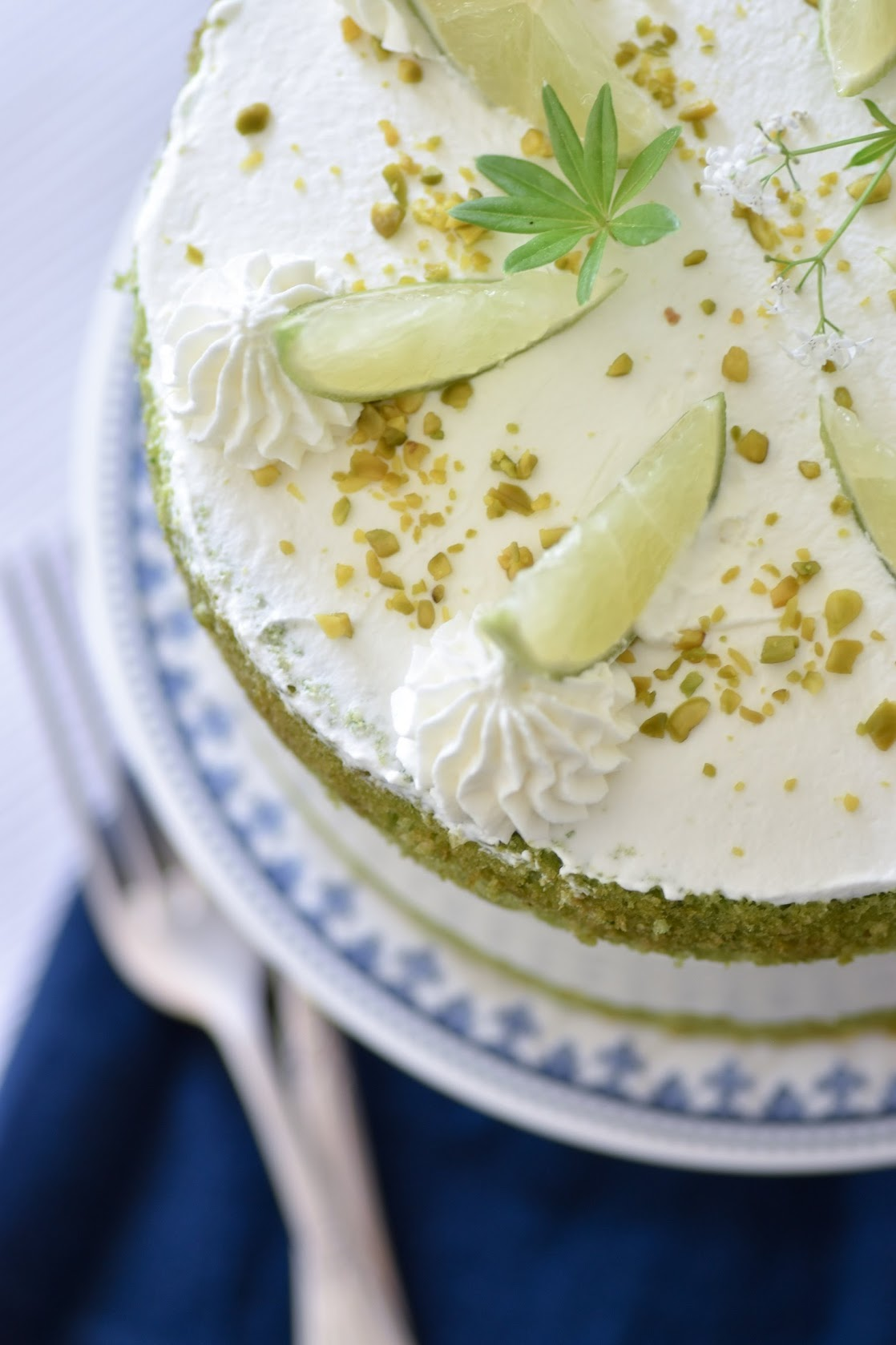 Joghurt-Torte mit Agar Agar und Waldmeister