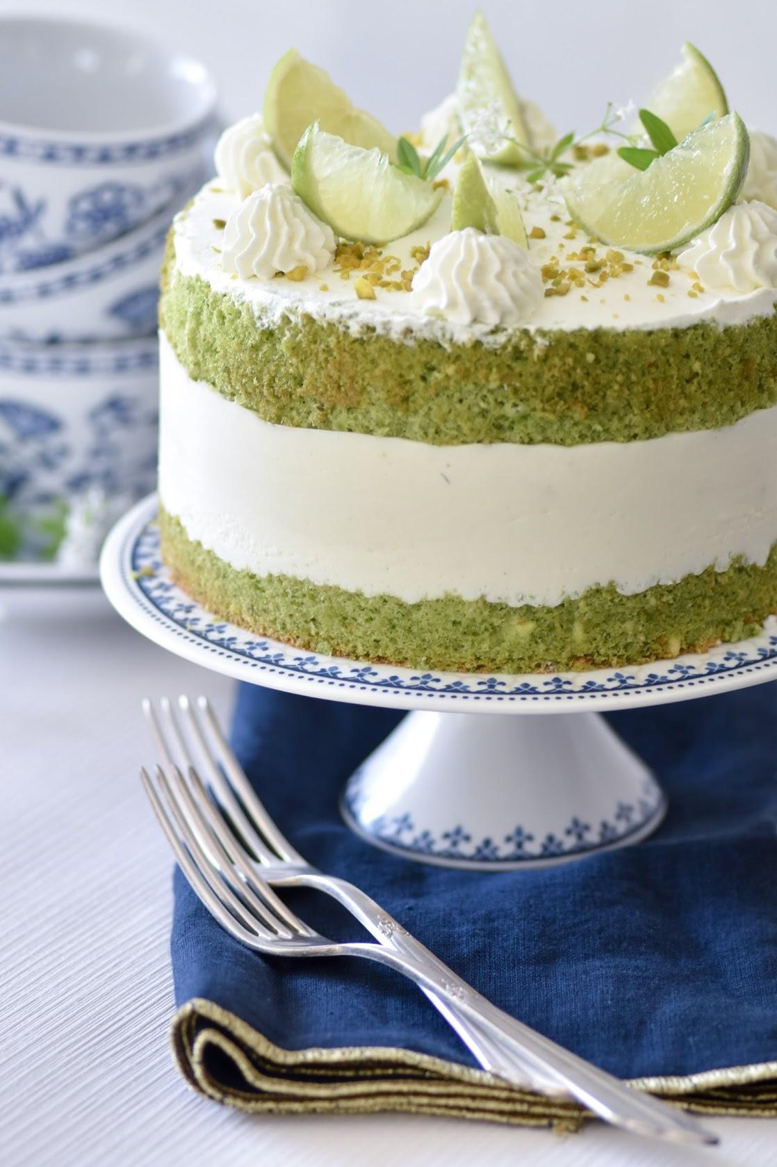 Waldmeister-Torte mit Agar Agar