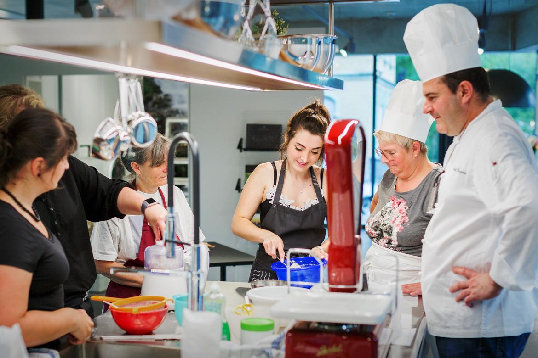 Macaronskurs mit Florent Benjamin in der EMME-Küchenausstellung