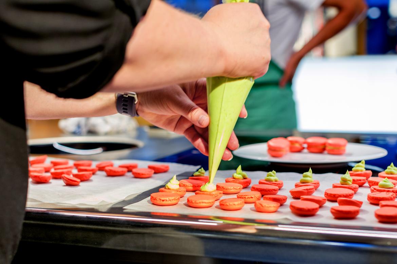 Macaronsfüllung spritzen