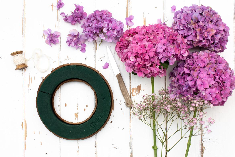 hortensienkranz, diy hortensienkranz, kranz stecken, herbstkranz, herbst, emmeküche, gwiegabriela, gabriela schneider