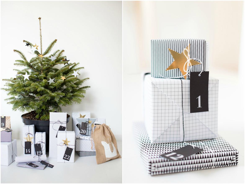 Weihnachtsbäumchen und Päckli als Deko für den Messestand von EMME - Die Schweizer Küche