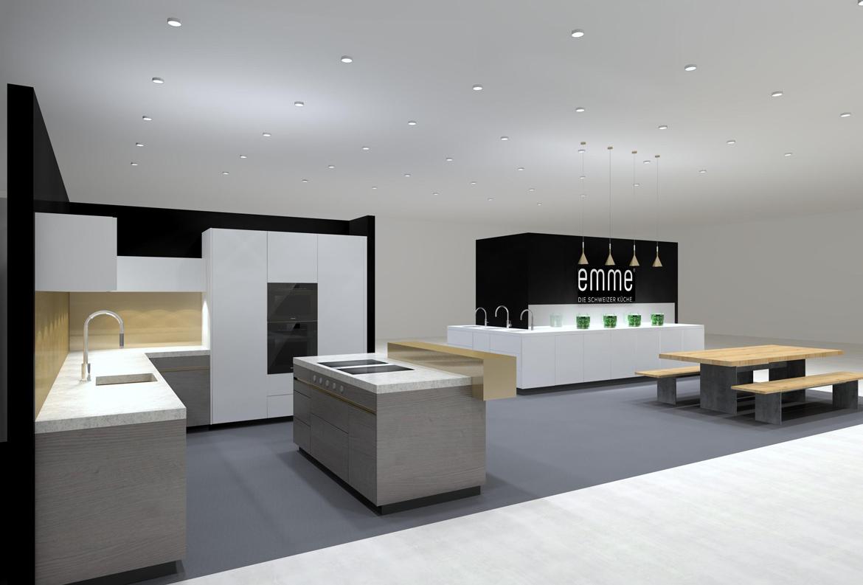 Bauen und Wohnen Messe Stand EMME - Die Schweizer Küche
