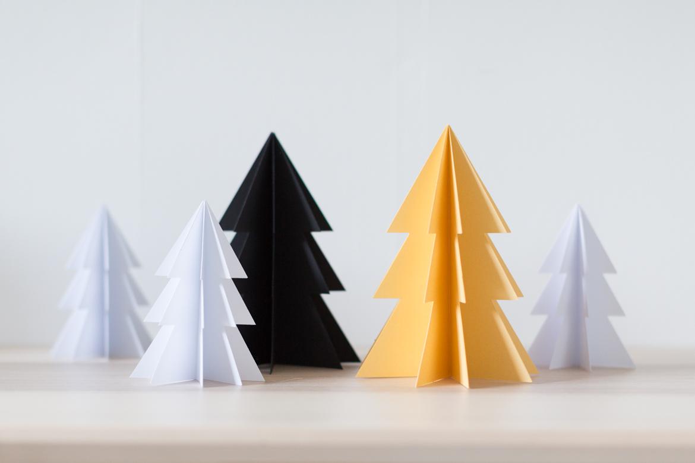 Papiertännchen als Deko für den Messestand von EMME - Die Schweizer Küche an der Bauen und Wohnen Bernexpo